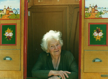 Photo of Sonia Rolt on a narrow boat